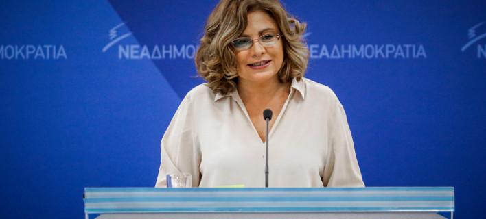 Η εκπρόσωπος Τύπου της ΝΔ Μαρία Σπυράκη / Φωτογραφία: EUROKINISSI