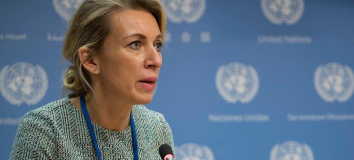 Η εκπρόσωπος του ρωσικού ΥΠΕΞ Μαρία Ζαχάροβα / Φωτογραφία: AP Images