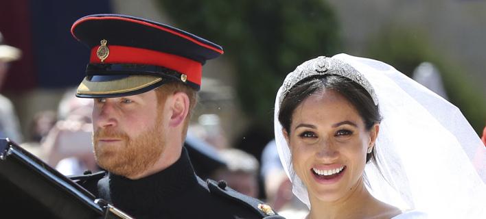 Ο πρίγκιπας Χάρι και η Μέγκαν Μαρκλ στον βασιλικό γάμο /Φωτογραφία: AP