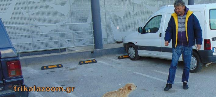 Ο άνεργος Μάριος και ο αδέσποτος σκύλος Μπούμπης θα περάσουν φτωχά Χριστούγεννα-Φωτογραφία: trikalazoom.gr