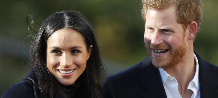 Ο πρίγκιπας Χάρι με την Μέγκαν Μαρκλ (Φωτογραφία: AP/ Frank Augstein)