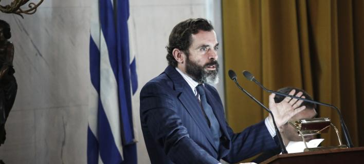 Ο Μαρκουλάκης στο συνέδριο της ΝΔ: Πιστεύω στον Κυριάκο  /Φωτογραφία: Eurokinissi