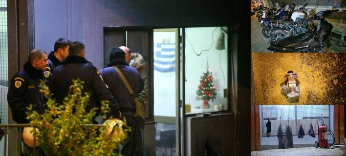 Επίθεση με μολότοφ στο κτίριο που στεγάζει ΜΑΤ και ΥΜΕΤ στην Καισαριανή -Φωτογραφίες: Intimenews/ΚΑΠΑΝΤΑΗΣ ΔΗΜΗΤΡΗΣ