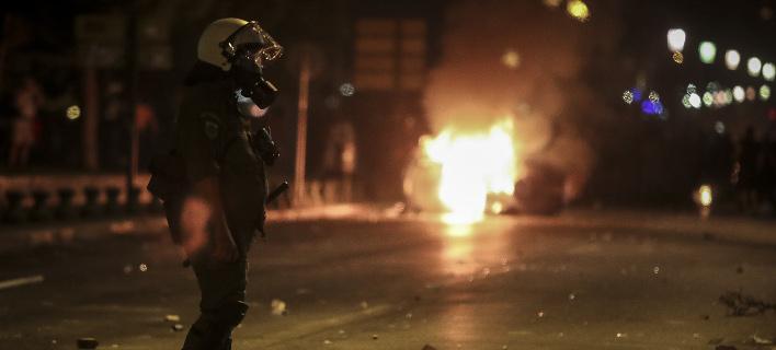 Επεισόδια ξέσπασαν μετά το συλλαλητήριο για τη Μακεδονία (Φωτογραφία: MotionTeam/KOSTAS VILLA)