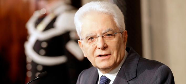 Φωτογραφία: O Iταλός πρόεδρος Σέρτζιο Ματταρέλλα/AP