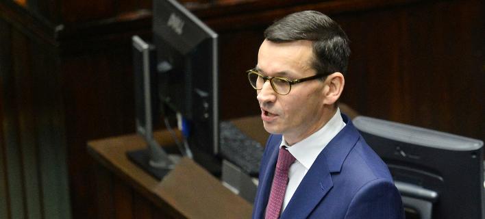 Ο πρωθυπουργός της Πολωνίας, Ματέους Μοραβιέτσκι (Φωτογραφία: ΑΡ)