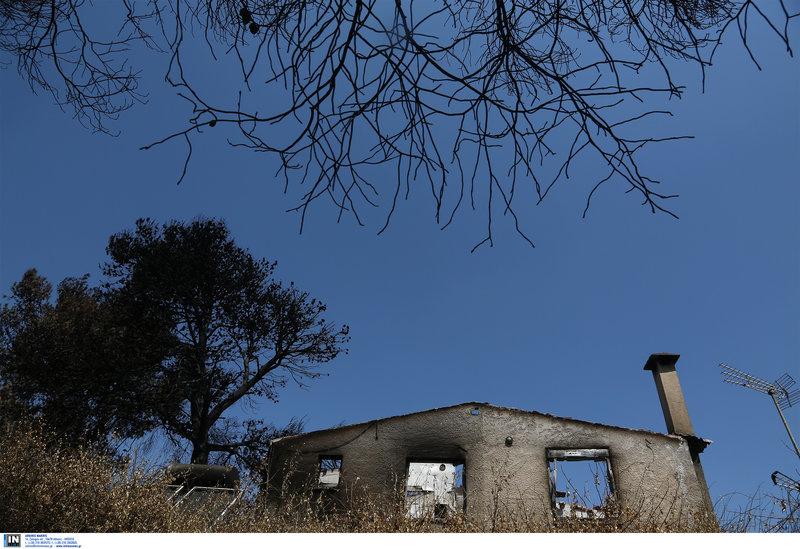 Καμμένα σπίτια και νεκρή φύση άφησε πίσω η πυρκαγιά στο Μάτι