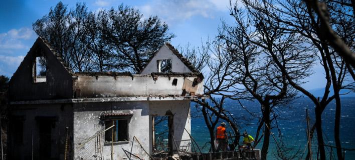 Σπίτι μετά την φωτιά στο Μάτι/ Φωτογραφία: Eurokinissi- ΚΑΡΑΓΙΑΝΝΗΣ ΜΙΧΑΛΗΣ