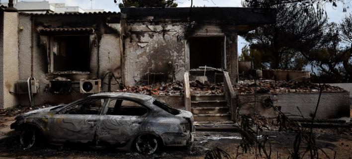 Το Μάτι, μία ημέρα μετά τη φονική φωτιά / Φωτογραφία: EUROKINISSI (ΤΑΤΙΑΝΑ ΜΠΟΛΑΡΗ)