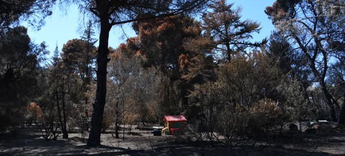 Αυξάνεται ο τραγικός απολογισμός από τη φονική πυρκαγιά (Φωτογραφία: EUROKINISSI/ ΜΙΧΑΛΗΣ ΚΑΡΑΓΙΑΝΝΗΣ)