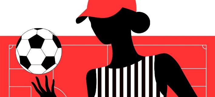 Γυναίκα και ποδόσφαιρο/ Φωτογραφία: Shutterstock