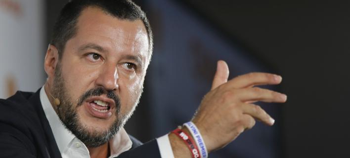 O Ιταλός υπουργός Εσωτερικών και επικεφαλής της ξενοφοβικής Λέγκα, Ματέο Σαλβίνι (Φωτογραφία: ΑΡ)