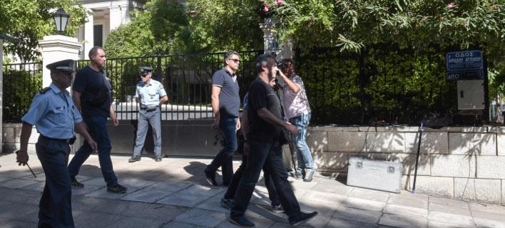 Στο Μέγαρο Μαξίμου εκπρόσωποι των μεταλλωρύχων / Φωτογραφία: (EUROKINISSI / ΤΑΤΙΑΝΑ ΜΠΟΛΑΡΗ)