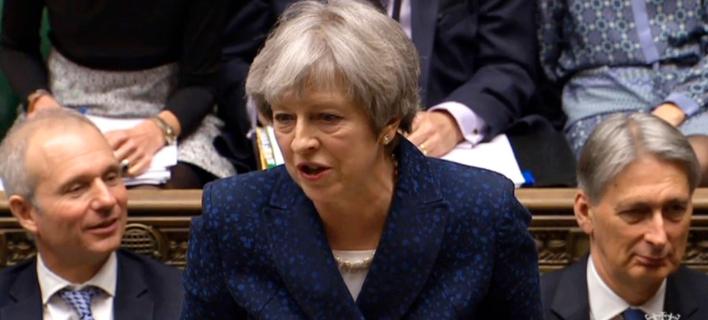 Η πρωθυπουργός της Βρετανίας, Τερέζα Μέι (Φωτογραφία: ΑΡ)