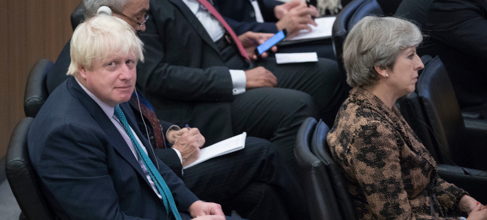 Σχέδιο ανατροπής της Μέι από τον Τζόνσον αποκαλύπτουν βρετανικά ΜΜΕ -Φωτογραφία αρχείου: AP Photo/Mary Altaffer