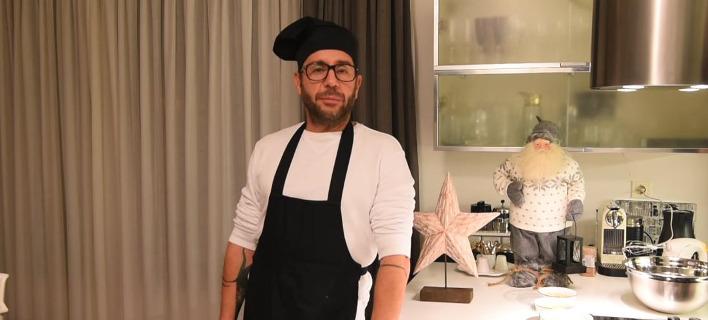 Ο τραγουδιστής Γιώργος Μαζωνάκης σε ρόλο ζαχαροπλάστη. Φωτογραφία: YouTube