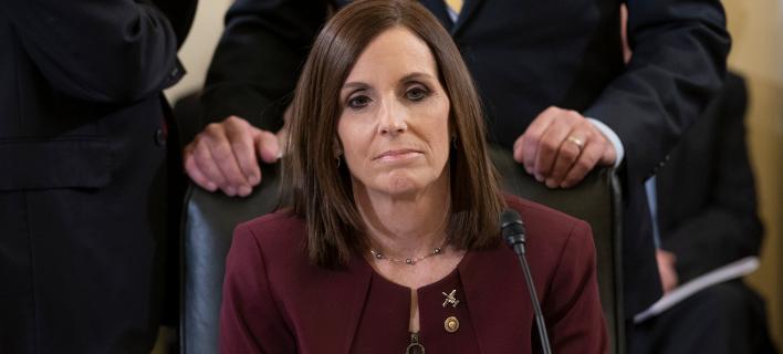 H Ρεπουμπλικανή γερουσιαστής της Αριζόνα, Μάρθα ΜακΣάλι (Φωτογραφία: ΑΡ/J. Scott Applewhite)