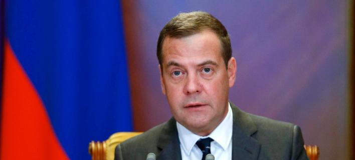 Ο πρωθυπουργός της Ρωσίας Ντμίτρι Μεντβέντεφ -Dmitry Astakhov, Sputnik, Government Pool Photo via AP