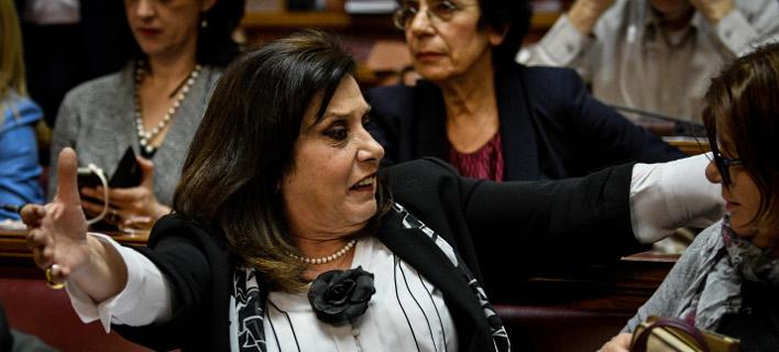 Η βουλευτής του ΣΥΡΙΖΑ Θεοδώρα Μεγαλοοικονόμου- φωτογραφία eurokinissi