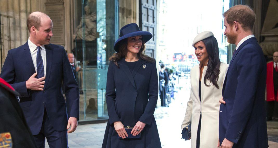 Η Κέιτ Μίντλετον με την Μέγκαν Μαρκλ και τους συζύγους τους. Φωτογραφία: ΑP images