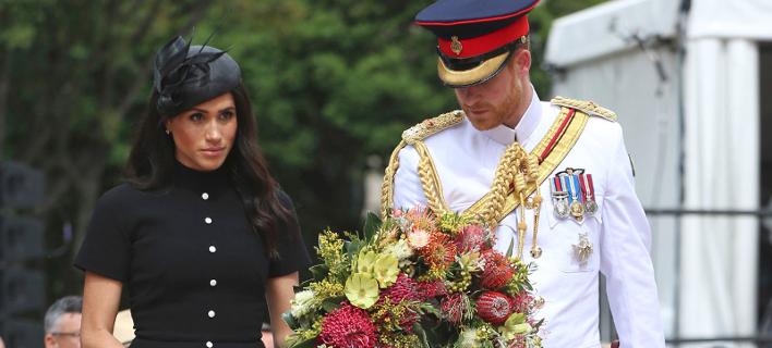 Η Μέγκαν Μαρκλ στην Αυστραλία με τον Πρίγκιπα Χάρι/ Φωτογραφία: AP