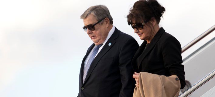 Οι γονείς της Μελάνια Τραμπ, Βίκτορ και Αμαλίζα Κναβ. Φωτογραφία: AP