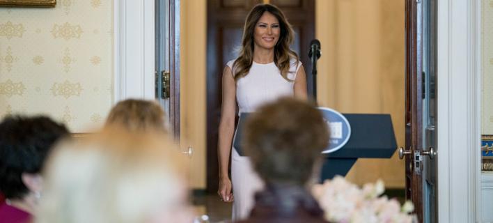 Η Μελάνια Τραμπ (Φωτογραφία: AP/ Andrew Harnik)