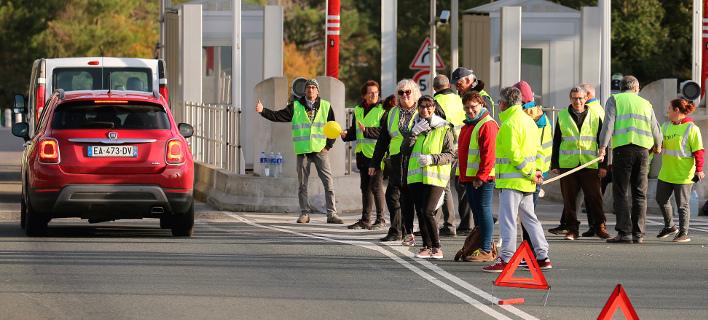Διαμρτυρία των κίτρινων γιλέκων -Φωτογραφία: ΑP