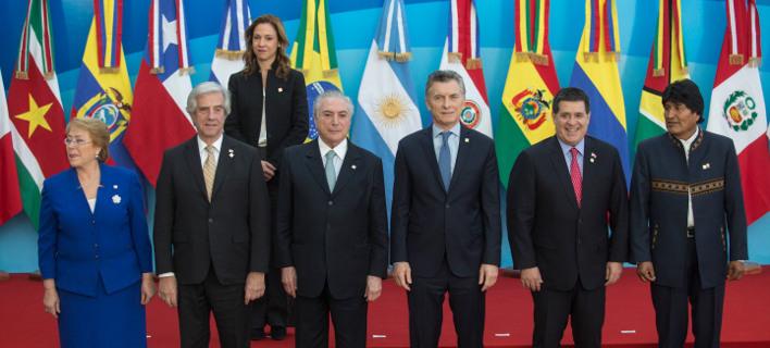 Η Mercosur απέβαλε την Βενεζουέλα -Φωτογραφία: AP Photo/Marcelo Ruiz