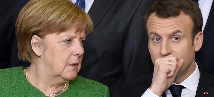Μέρκελ και Μακρόν συναντούν εμπόδιο στην υλοποίηση των σχεδίων για «περισσότερη Ευρώπη» (Φωτογραφία: ΑΡ)