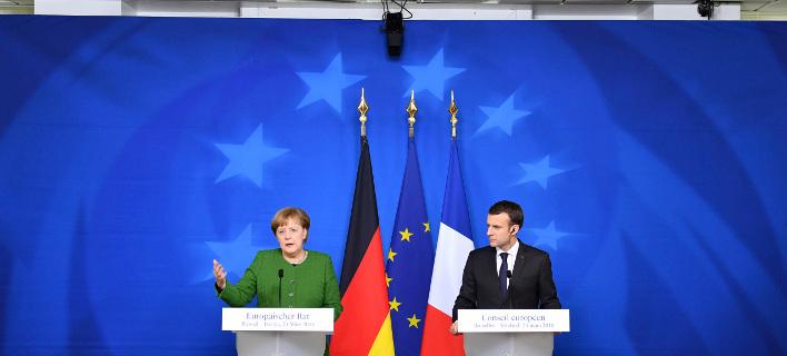 Κρίσιμη για το μέλλον της ευρωπαϊκής ολοκλήρωσης η συνάντηση Μέρκελ-Μακρόν στο Βερολίνο