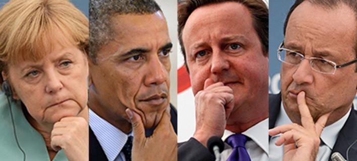 Τηλεδιάσκεψη Μέρκελ-Ομπάμα-Κάμερον-Ολάντ για το προσφυγικό