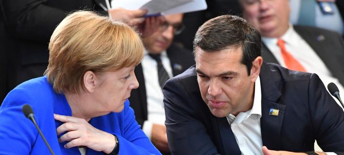 Ανγκελα Μέρκελ και Αλέξης Τσίπρας -Φωτογραφία αρχείου: AP Photo/Geert Vanden Wijngaert