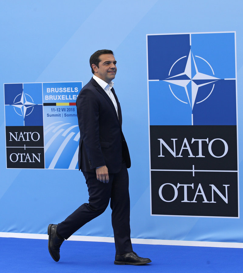 O Αλέξης Τσίπρας στην Σύνοδο Κορυφής του  ΝΑΤΟ /Φωτογραφία AP images