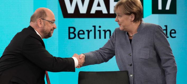 Μόνο 1 στους 4 Γερμανούς θέλει κυβέρνηση Μέρκελ-Σουλτς