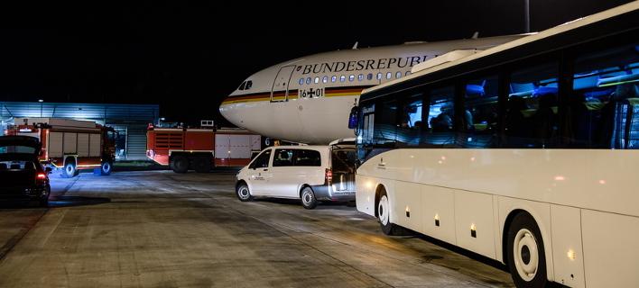 Το αεροσκάφος της Ανγκελα Μέρκελ / Φωτογραφία: EPA/CLEMENS BILAN