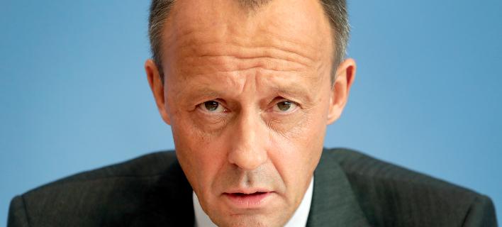 O Φρίντριχ Μερτς ανακοίνωσε την υποψηφιότητα του για πρόεδρος του CDU -Φωτογραφία: AP Photo/Michael Sohn