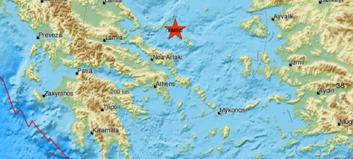 Σεισμική δόνηση 5 βαθμών της κλίμακας Ρίχτερ κοντά στη Σκύρο -Ταρακουνήθηκε και η Αθήνα [εικόνα]