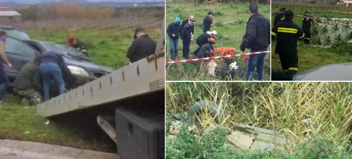 Νεκροί οι δύο αγνοούμενοι στο Μεσολόγγι -Σε αρδευτικό κανάλι βρέθηκε το ΙΧ [εικόνες]
