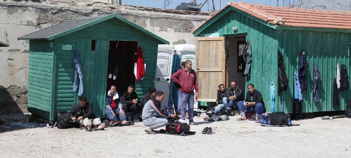 Μετανάστες στη Χίο, Φωτογραφία: Eurokinissi