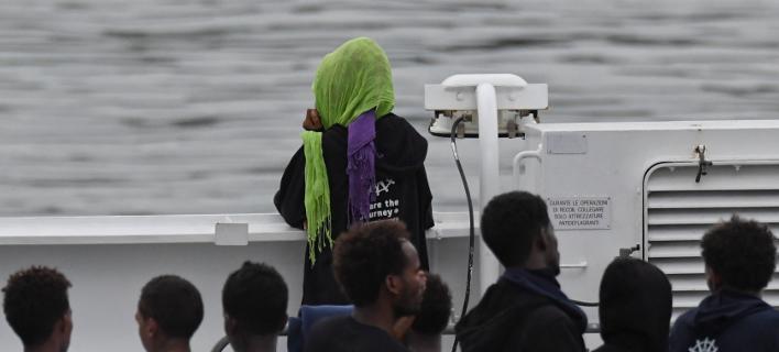 Μετανάστες στο πλοίο Diciotti/Φωτογραφία: ΑΡ