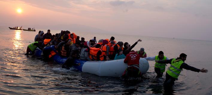Αφιξη μεταναστών σε ελληνικές ακτές /Φωτογραφία Αρχείου: ΑΡ
