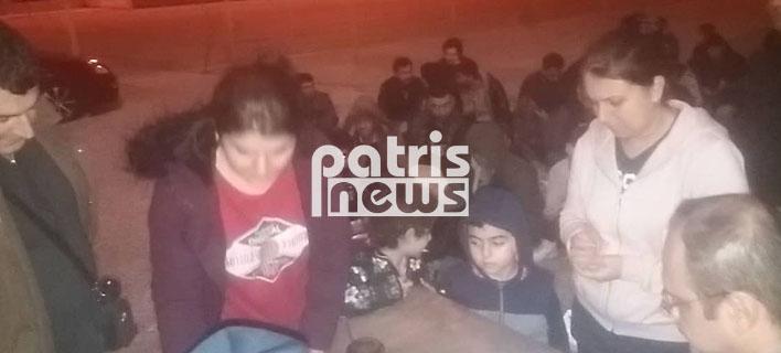 Εντοπίστηκαν 119 μετανάστες σε παραλία της Ηλείας -Φωτογραφία: patrisnews.gr