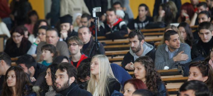 φοιτητές σε αμφιθέατρο/Φωτογραφία: Eurokinissi