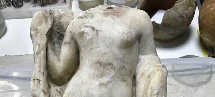 Η Αφροδίτη του... μετρό της Θεσσαλονίκης -Εντοπίστηκε ακέφαλο άγαλμα της θεάς [εικόνα]