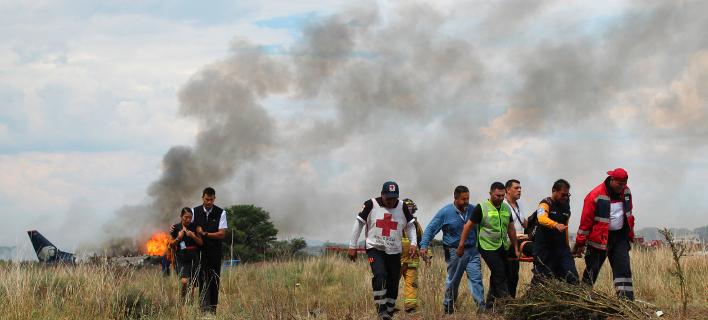 Θαύμα στο Μεξικό -Πώς βγήκαν ζωντανοί οι 101 επιβάτες από το φλεγόμενο αεροπλάνο [εικόνες]
