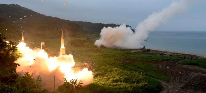 ΗΠΑ και Ν.Κορέα έκαναν ασκήσεις με πυραύλους μετά την εκτόξευση ICBM από την Πιονγιάνγκ (Φωτογραφία: ΑΡ)