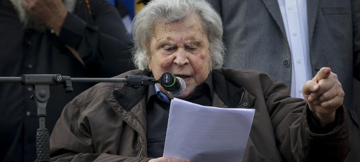 Ο Μίκης Θεοδωράκης (Φωτογραφία: EUROKINISSI/ ΓΙΑΝΝΗΣ ΠΑΝΑΓΟΠΟΥΛΟΣ)