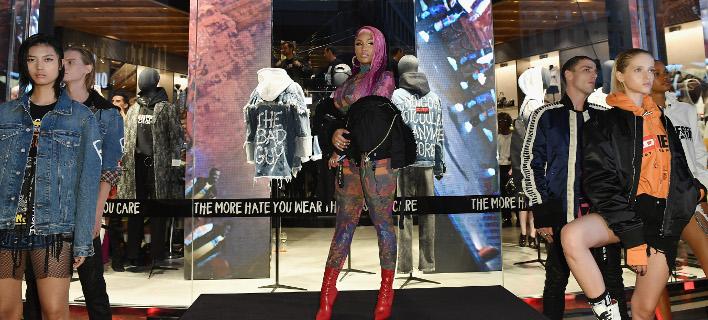 H Nicki Minaj στην μίνι επίδειξη της νέας κολεξιόν της Diesel. Φωτογραφία: Getty Images