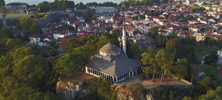 Ο μιναρές στο Ασλάν Τζαμί στο κάστρο των Ιωαννίνων / Φωτογραφία: youtube